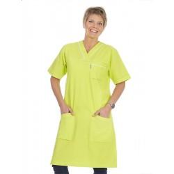 klänning i 100% krinklad Bomull, Neon