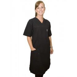 Klänning svart +10cm längd
