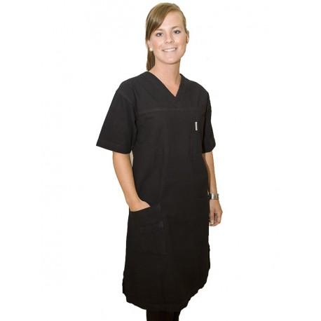 Klänning svart +10cm extra längd